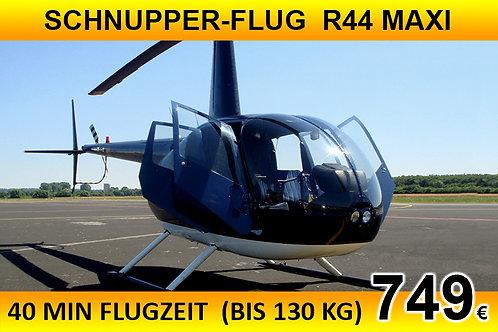 Schnupperflug mit selber Steuern R44 MAXI