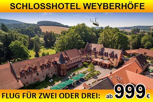 Flug zum Schlosshotel Weyberhöfe für bis zu DREI Passagiere