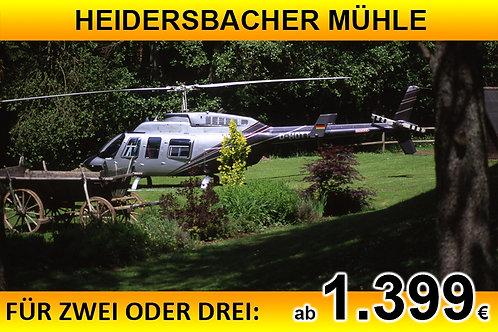 Flug zur Heidersbacher Mühle für bis zu DREI Passagiere