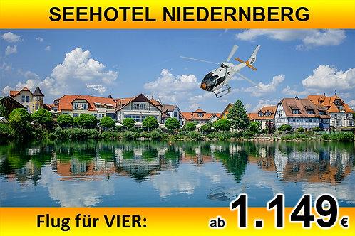 Flug zum Seehotel Niedernberg für bis zu VIER Passagiere