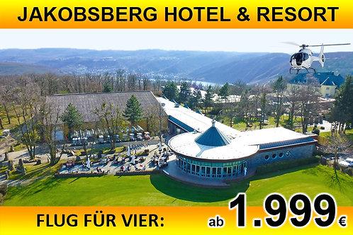 Flug zum Jakobsberg Hotel und Resort für bis zu VIER Passagiere