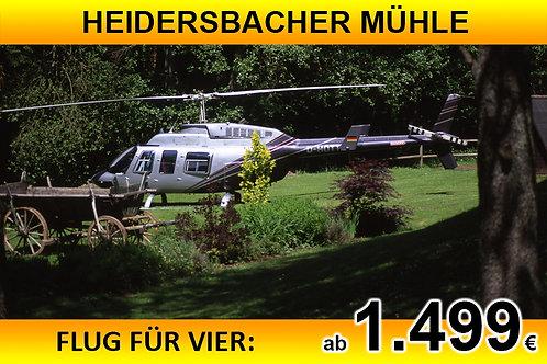 Flug zur Heidersbacher Mühle für bis zu VIER Passagiere