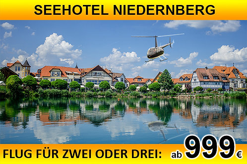 Flug zum Seehotel Niedernberg für bis zu DREI Passagiere