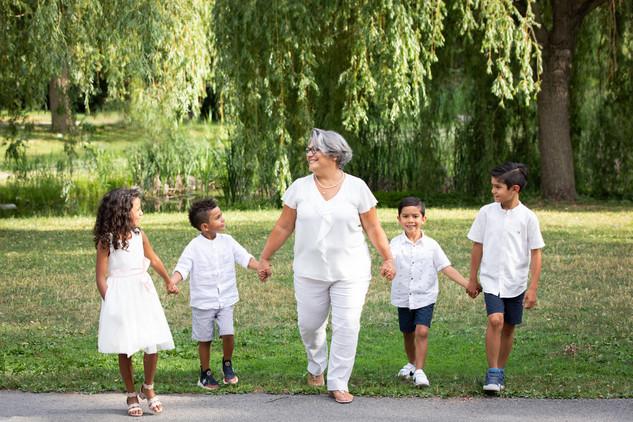 Grandma with her grandchildren session