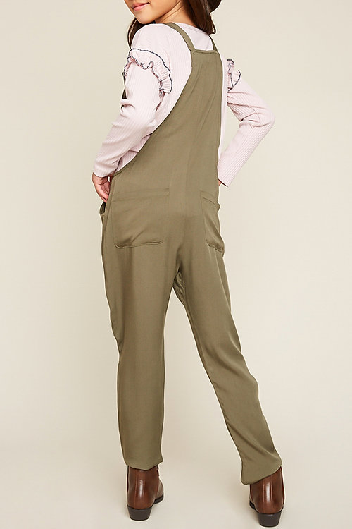 eb767f7370e Hayden Olive Tie Strap Jumpsuit