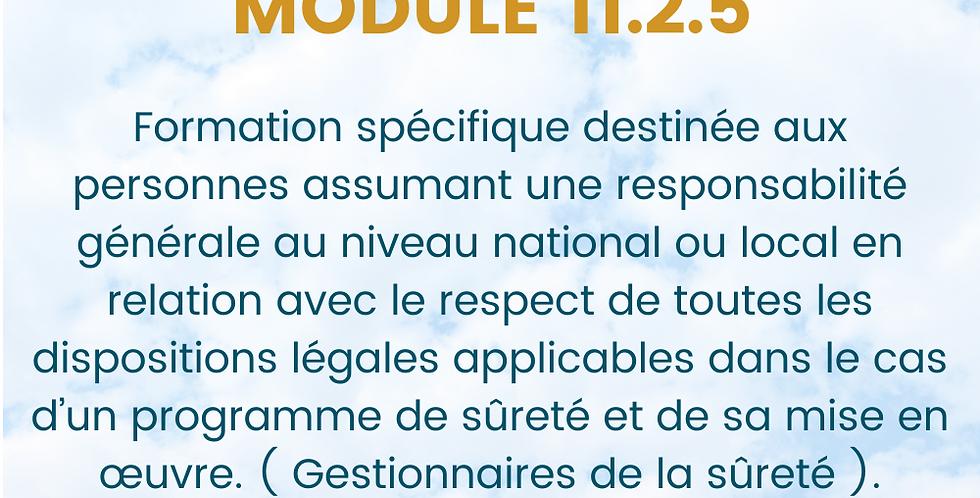 Module 11.2.5. Formation spécifique Superviseur.