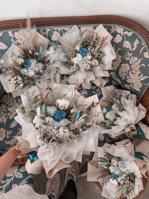 Medium+: Garden Roses in Blue