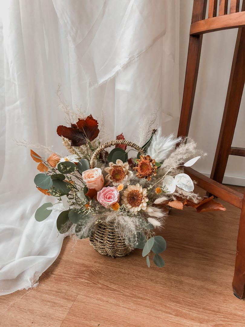 Basket: Field of Sunflowers