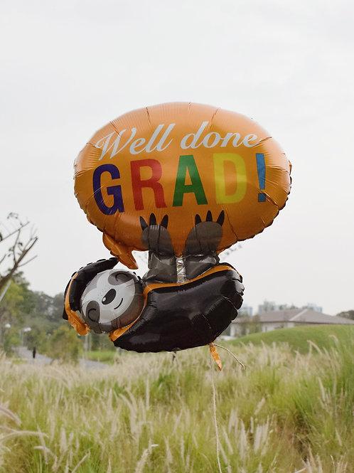 Grad Sloth Helium Balloon