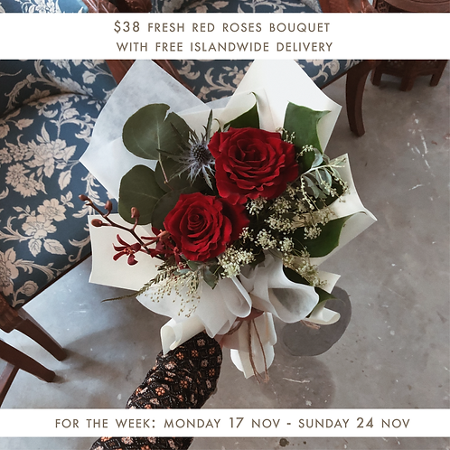Fresh Red Roses (18 Nov - 24 Nov)