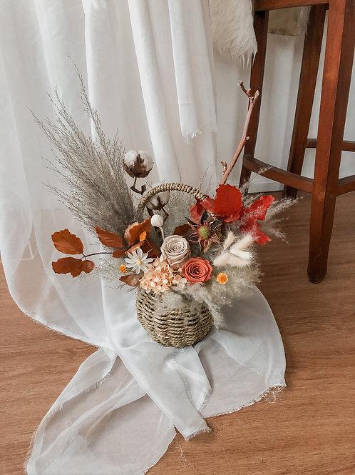 Basket: Field of Roses