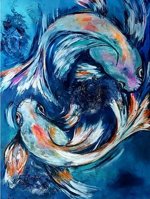 Tanzende Fische