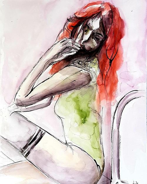 """Serie """"Red Hair"""" -  Versunken in Gedanken"""
