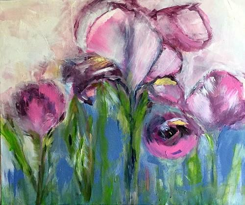 Wasserlilien (abstrahiert)