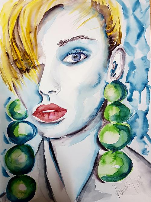 Grüne Ohrringe