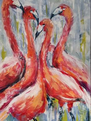 Happy Flamingos