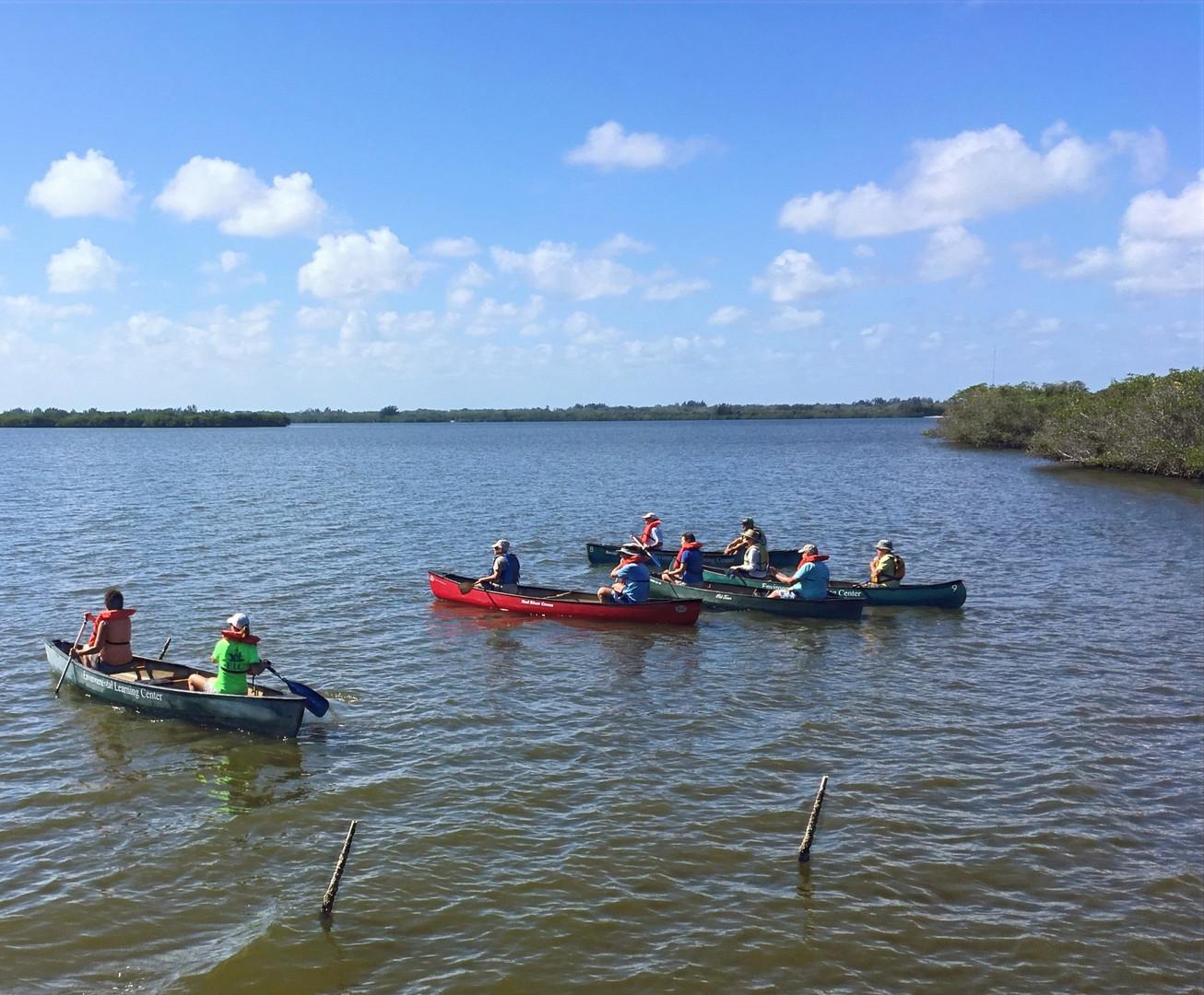 Canoe on the Indian Rive Lagoon