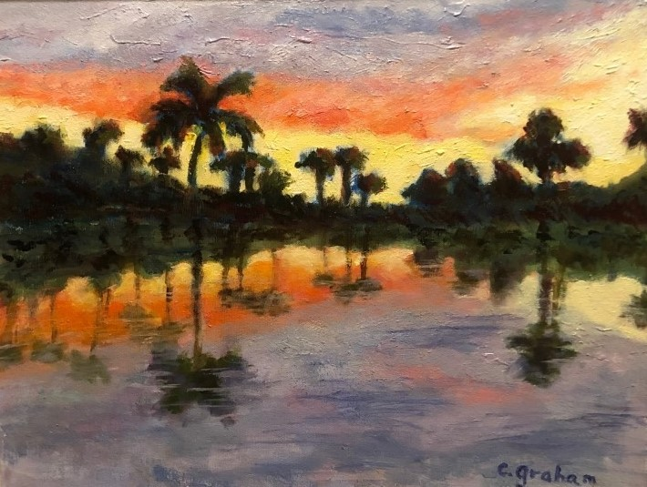 Orchid Island Art Club painting