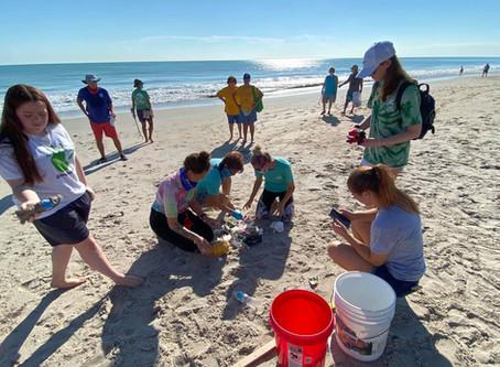 NOAA Planet Stewards Beach Cleanup on Treasure Coast