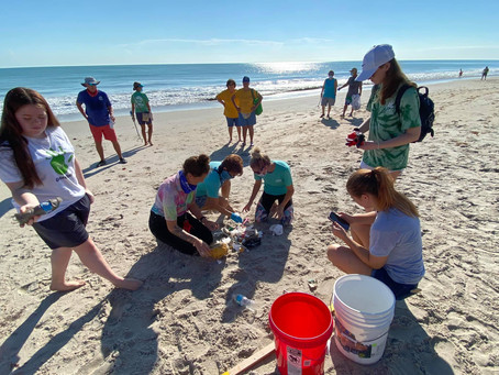 NOAA Planet Stewards Beach Cleanup on Treasure Coast