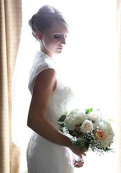 A stunning bride on her wedding day, Meadow View Gardens Outdoor Wedding Venue, Roseneath, Ontario