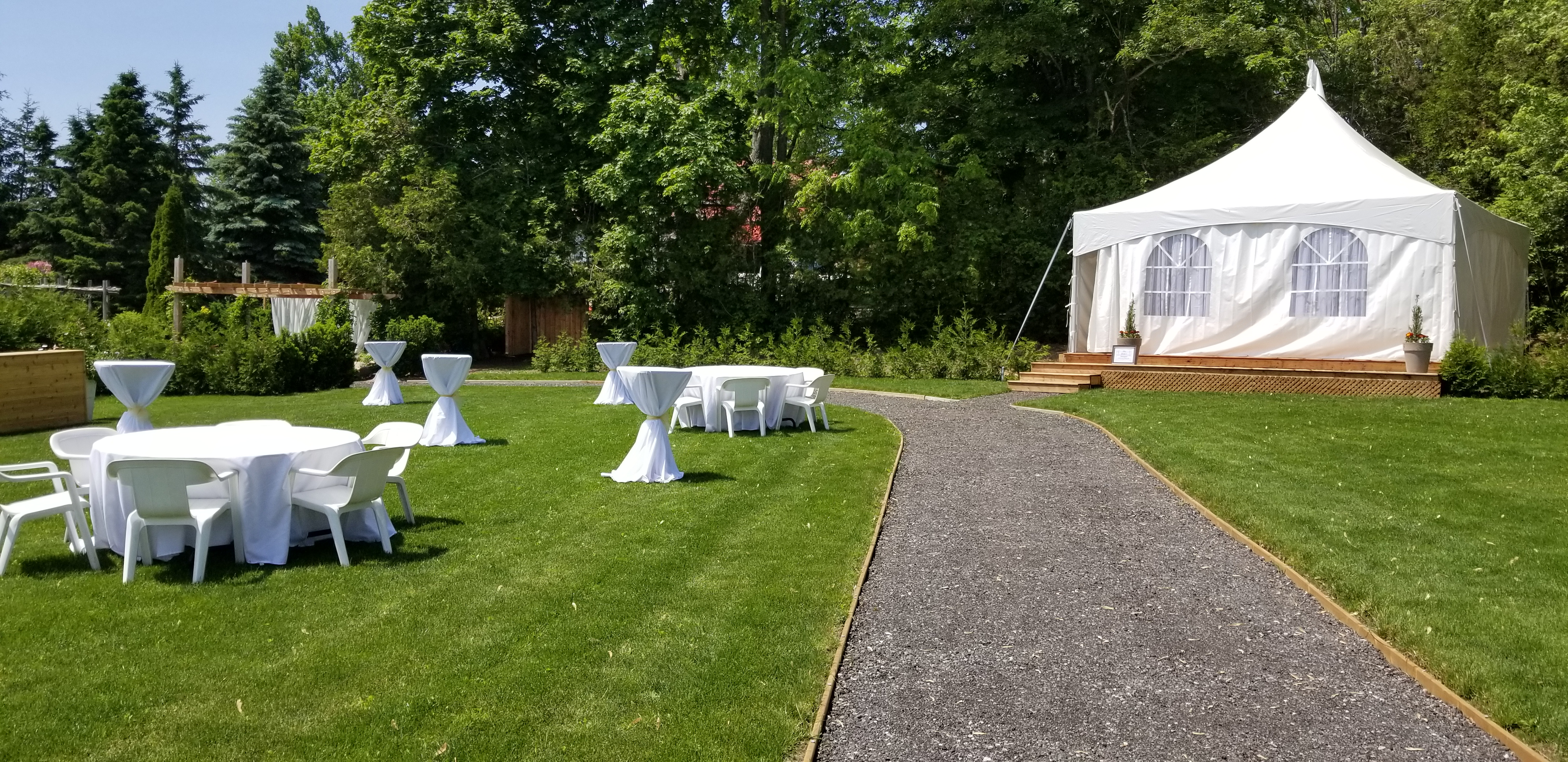 Meadow View Gardens Brides Tent