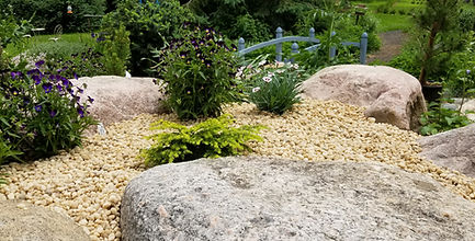 The rockery at Meadow View Gardens, Roseneath, Ontario
