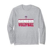 V Long Sleeve T-Shirt - GrayWhiteRed.jfi