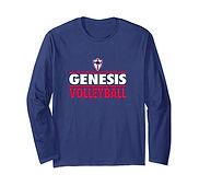 V Long Sleeve T-Shirt - BlueWhiteRed.jfi