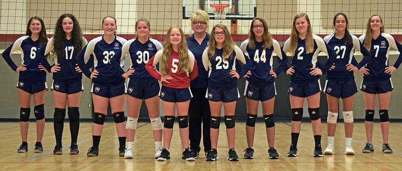 2020 Volleyball Junior High Team Photo (