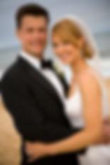 Seaside Soirees and Weddings New Smyrna Beach Wedding Oceanfront Barefoot Bride Groom Tux