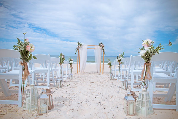 Seaside Soirees and Weddings Sea Beaches Ocean Ceremony on the Beach