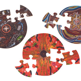 Round set of 3 puzzles pic