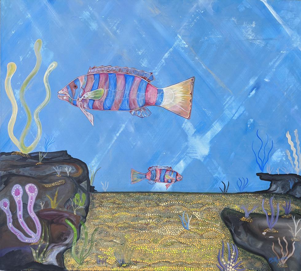 Harlequin Fish by Billyara