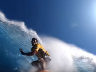 An Epic Ride Viewed from Kai's Go Pro  WSL Peahi Challenge/ The Bow Wave