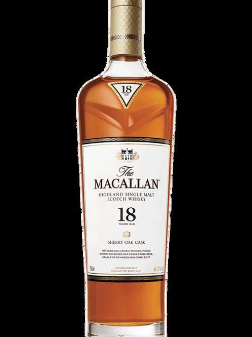 MACALLAN 18 YR SHERRY OAK