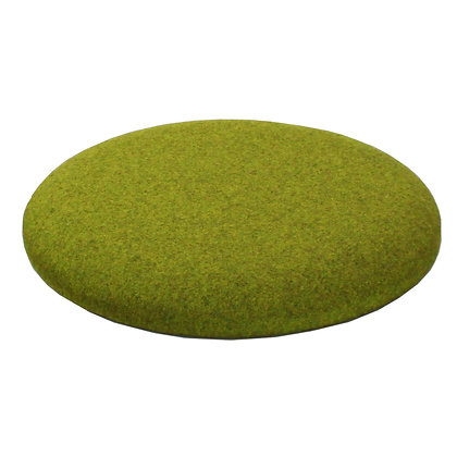 Button Round Cushion Green