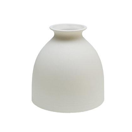 Round White Vase