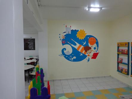 Biblioteca infantil Colégio Objetivo.