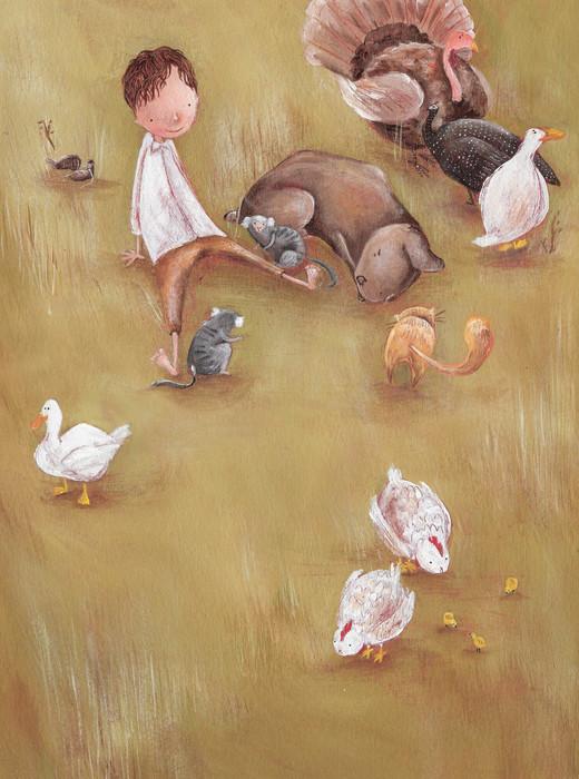 Cachorro, gato, pato e galinha - João, Joãozinho, Joãozito
