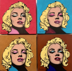"""Norma Jean 1,2,3,4  15"""" x 15"""""""