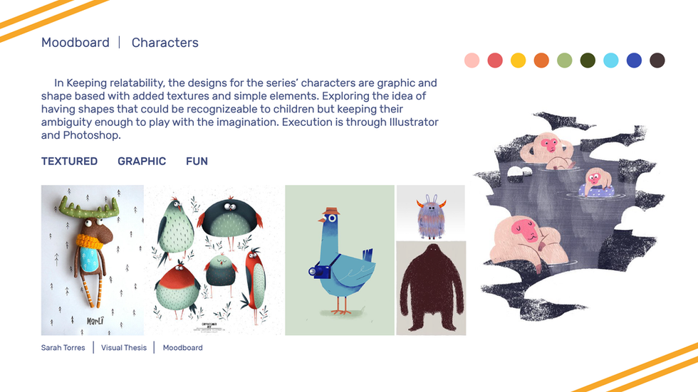 Visual Thesis Character Moodboard