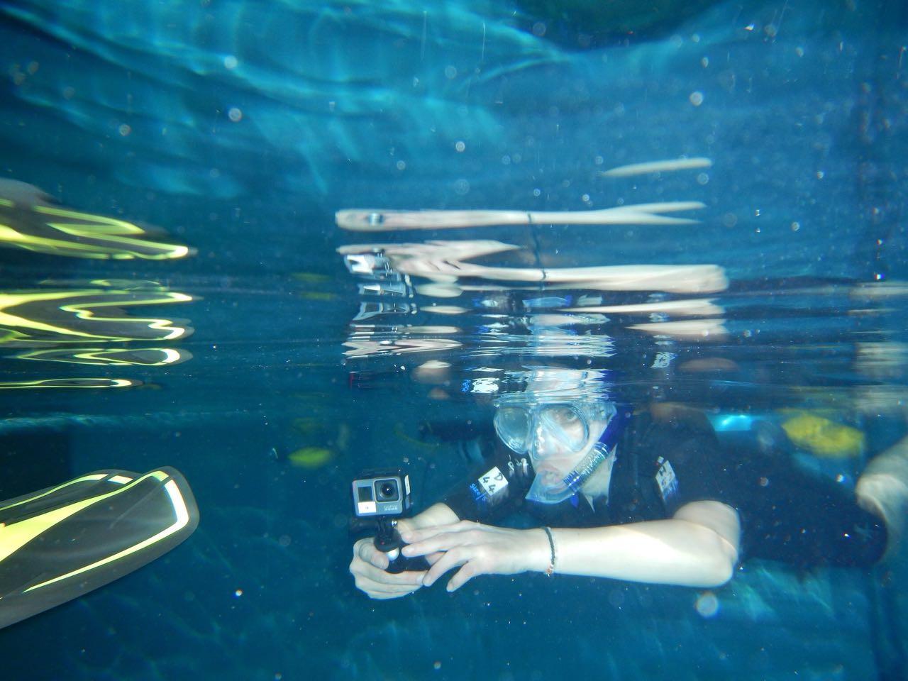 """Dreharbeiten für """"Heimat der Rekorde - Unterwasser Pool Billiard"""", BR"""