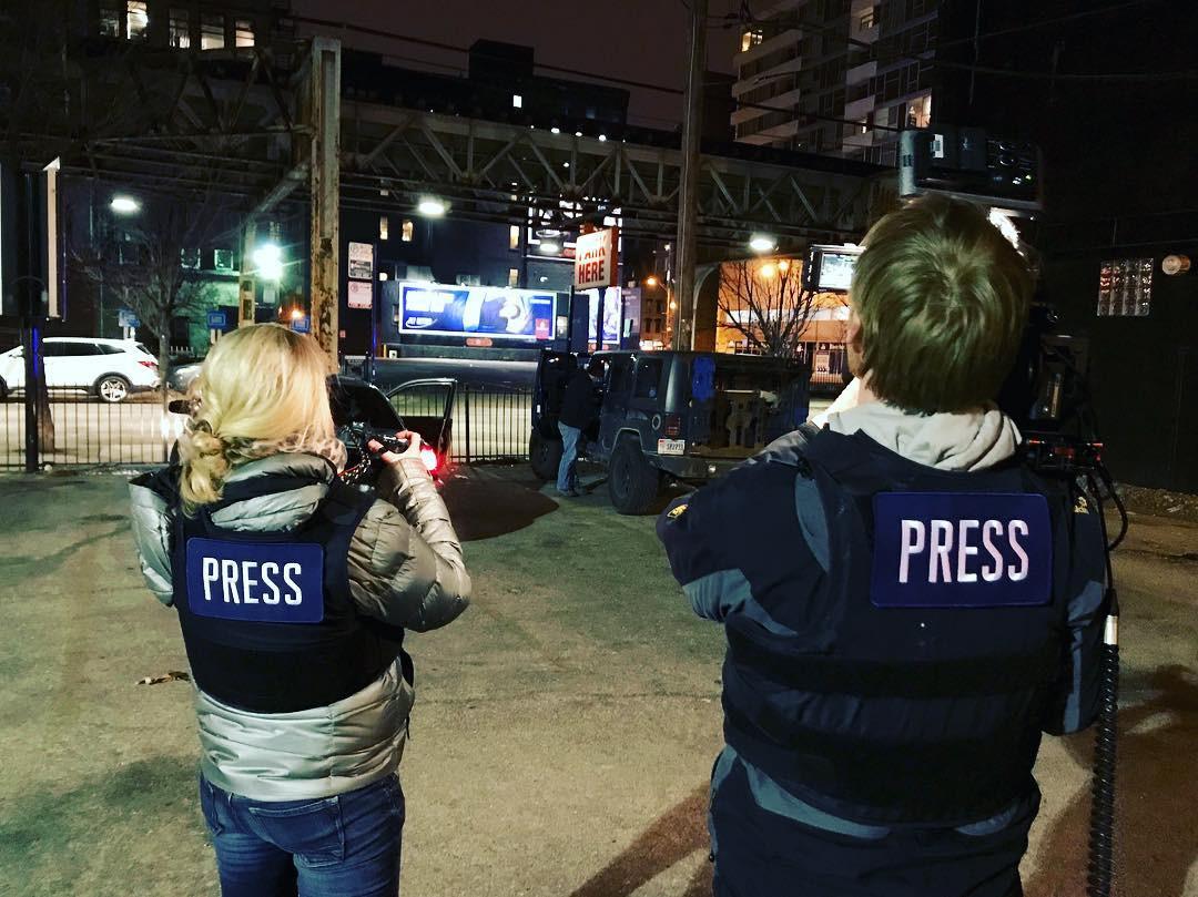 """Dreharbeiten für Galileo, """"Nightcrawler von Chicago: Das Geschäft mit den Nachrichten"""""""