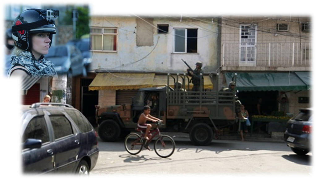 """Dreharbeiten """"Galileo"""", Pro 7, In den Favelas von Rio de Janeiro kurz vor der WM 2014"""