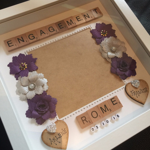 engagement photo frame - Engagement Picture Frame