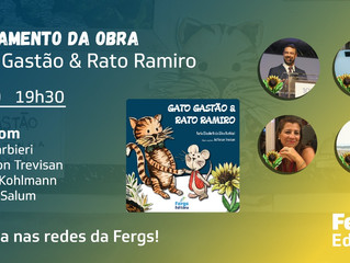 Fergs Editora lança obra infantil Gato Gastão & Rato Ramiro