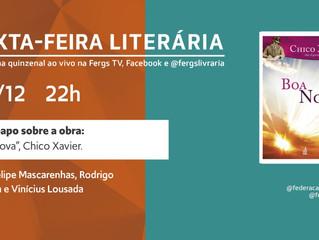 Sexta-feira Literária trará reflexões sobre a obra Boa Nova