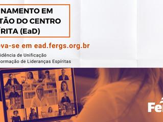 Fergs promove Treinamento em Gestão do Centro Espírita (EaD)