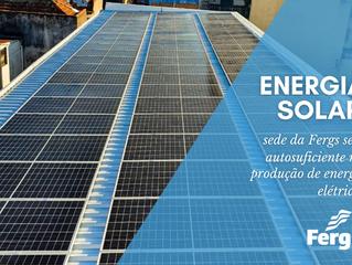 Sede da Fergs será autossuficiente na produção de energia elétrica